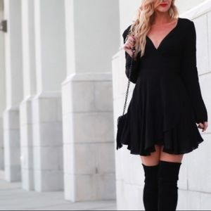 Urban Outfitters Dresses - Black wrap dress